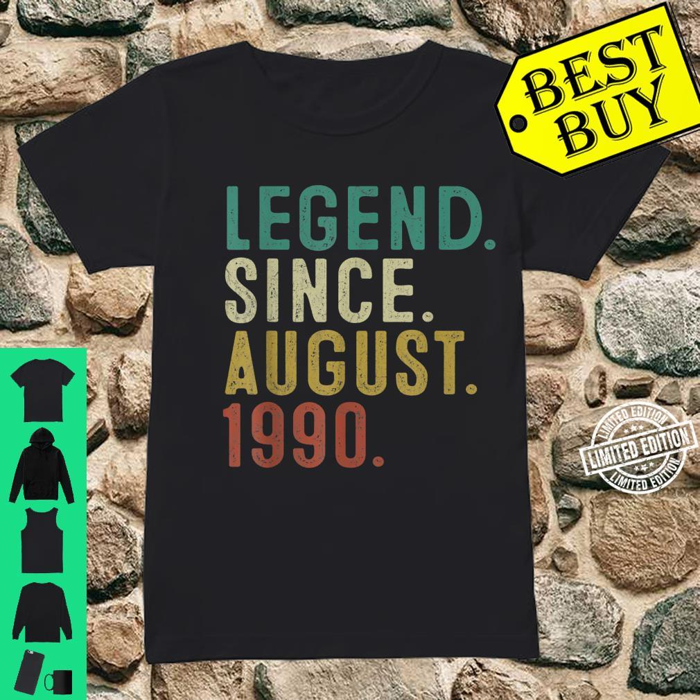 Legend Since August 1990 31st Birthday 31 Years Old Shirt ladies tee