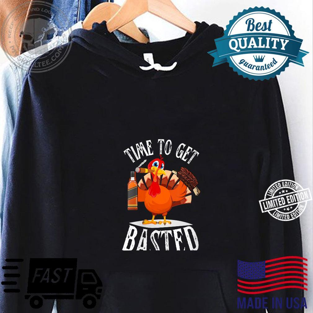 Time to get Basted Ribs Bourbon Cigars Thanksgiving Shirt hoodie