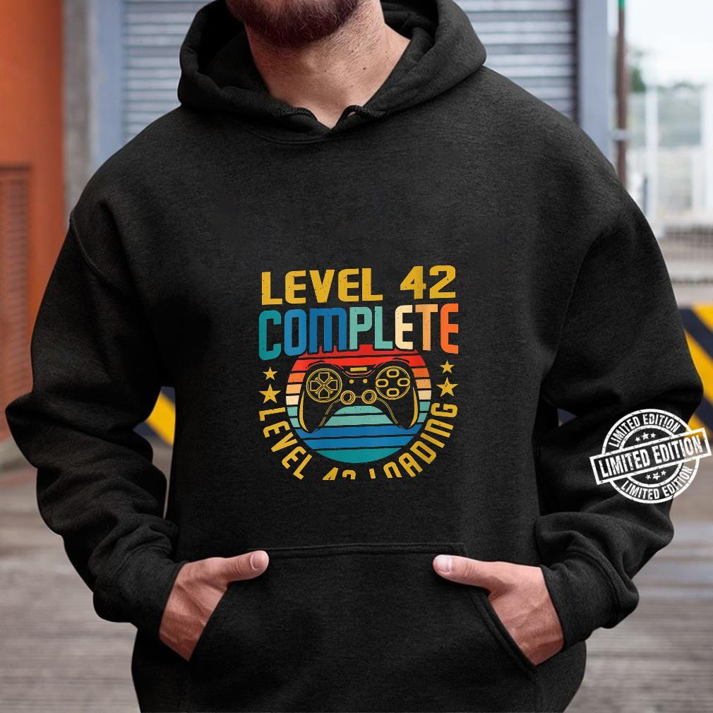 Womens Level 42 Complete Level 43 Loading 42nd Birthday Video Gamer Shirt hoodie