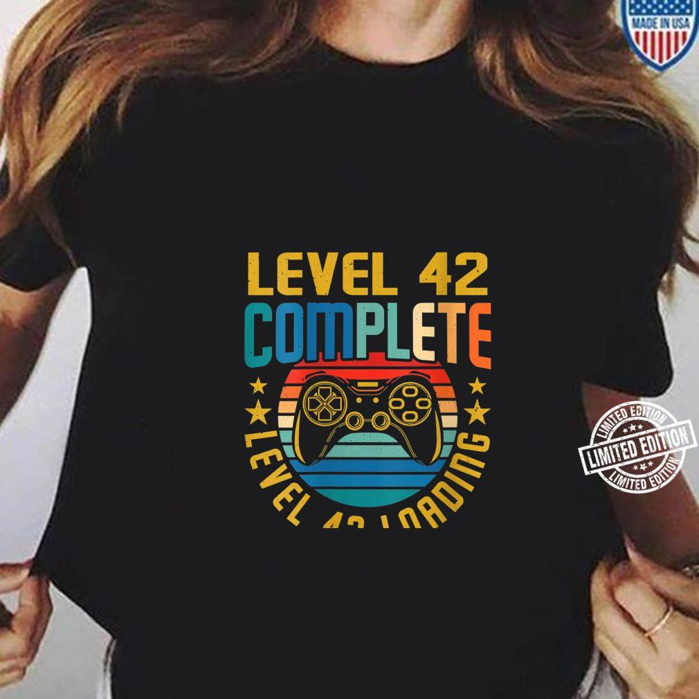 Womens Level 42 Complete Level 43 Loading 42nd Birthday Video Gamer Shirt ladies tee