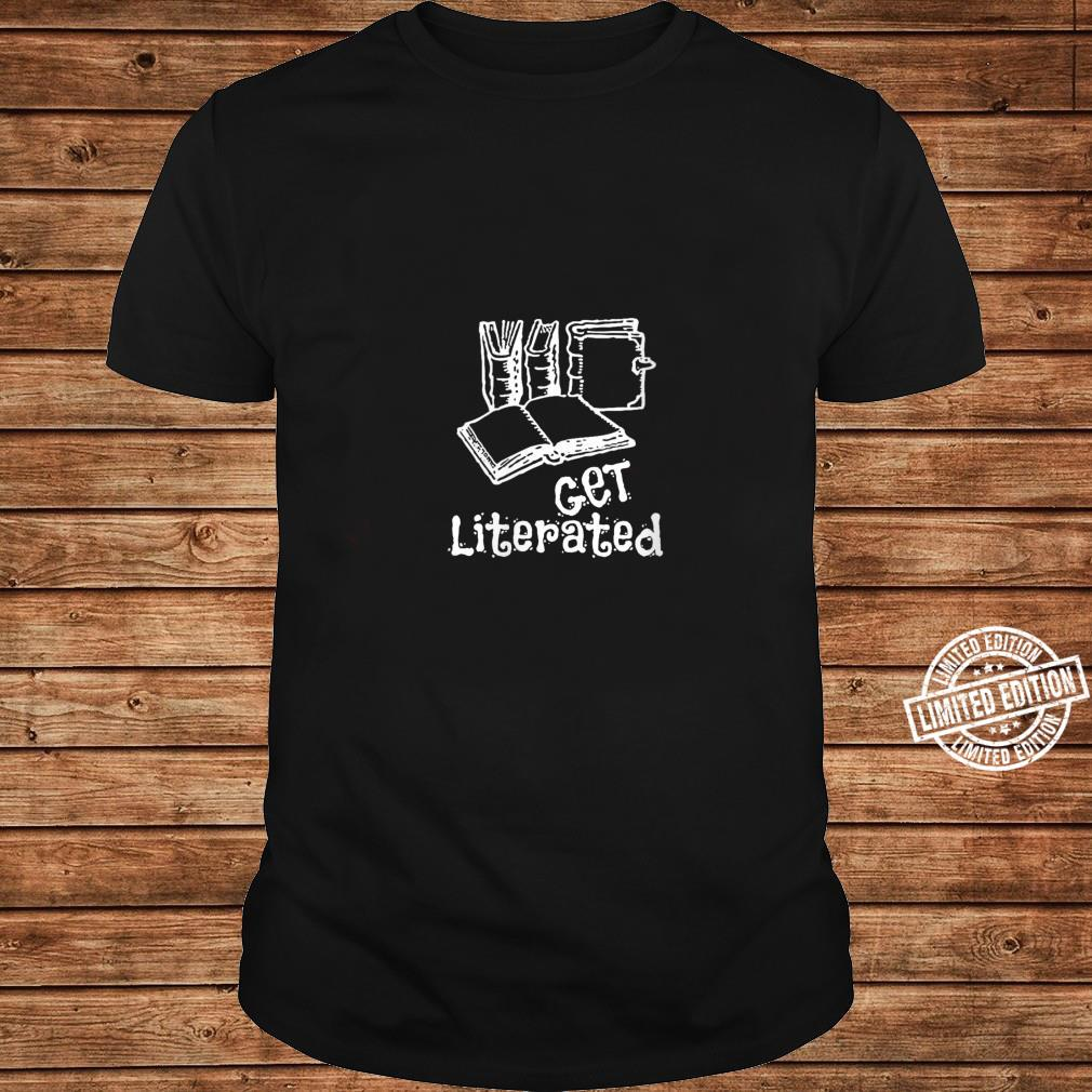 Womens Word Play Get Literated Shirt long sleeved