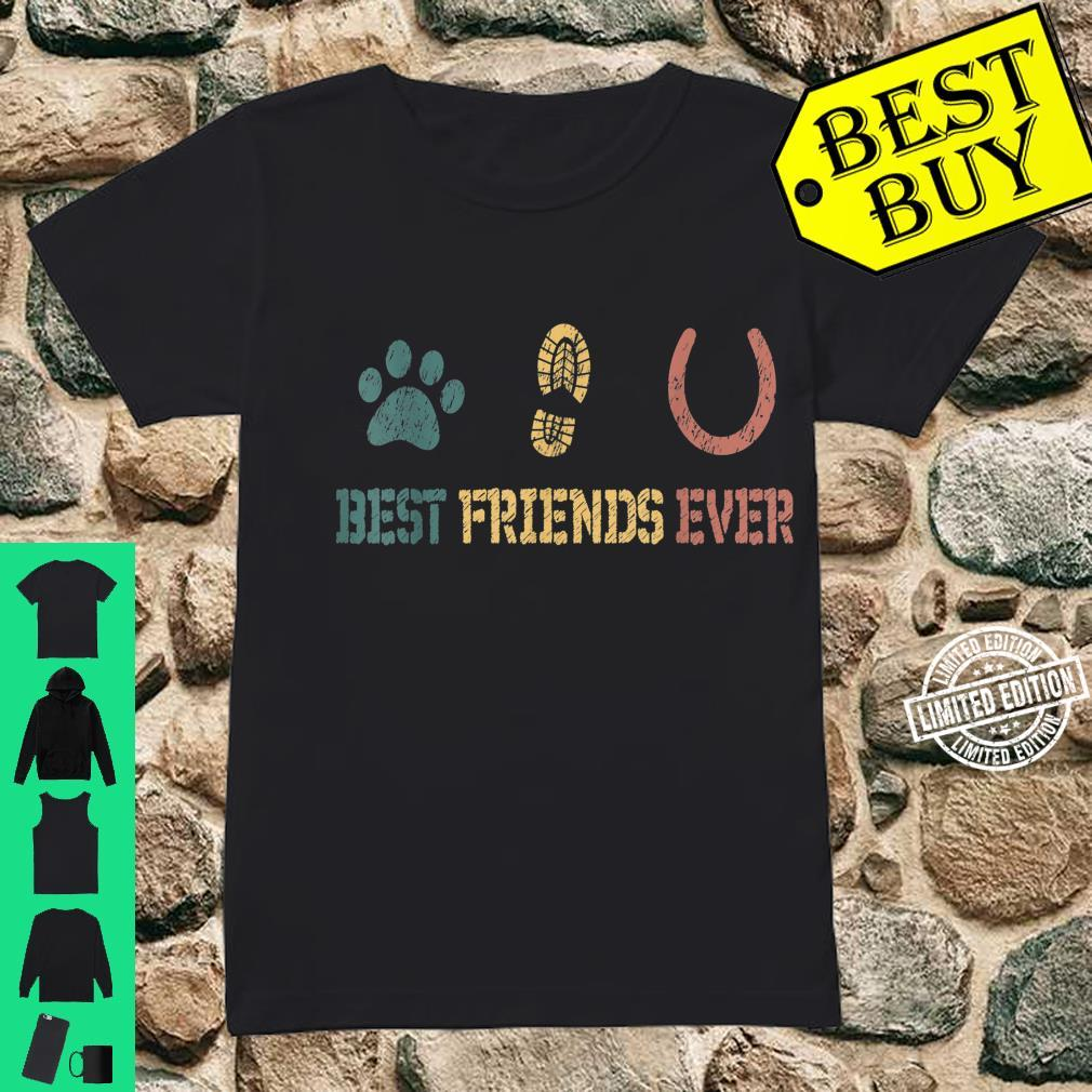 Horse and Dog Best Friends Ever Shirt ladies tee