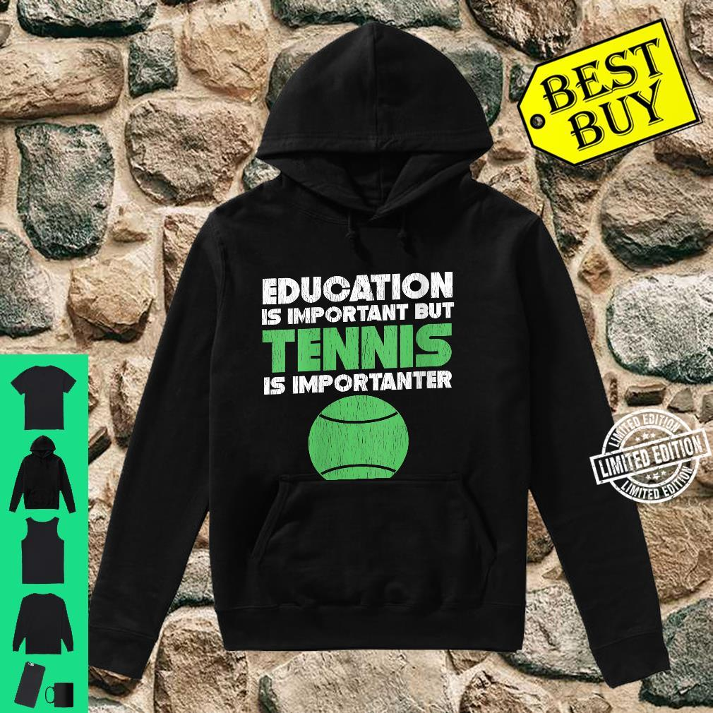 grabmybits Education is Important Tennis is Importanter Ladies T Shirt